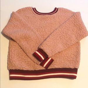 Pink Sherpa Sweatshirt